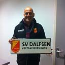 Wim Kamphuis ontvangt eerste nieuwe Sv Dalfsen bord!