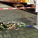 Bloemen op station voor nabestaanden overleden machinist