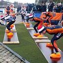 De schaatsers trainen weer