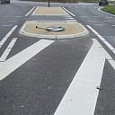 Verkeersbord plat rotonde Poppenallee