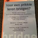 ledenwerving actie gestart bij de Bridge club