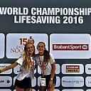 Dalfser zusjes op WK Lifesaving
