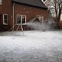 In Emmen (Dalfsen) sneeuwt het al weer