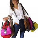 Nieuw item: vrouw met tas