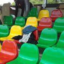 Tribune Dalfsen krijgt vorm: stoeltjes geplaatst