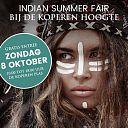 Indian Summer Fair op zondag 8 oktober.