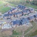 Blik van boven op nieuwbouwwijk Oosterdalfsen.