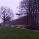Een helikopter in de tuin?