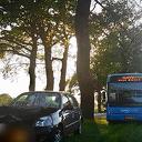 Aanrijding lijnbus met personenauto
