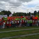 Demonstratie Weezenlanden tegen laagvliegroutes