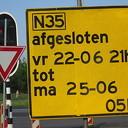 Rijksweg 35 binnenkort een weekend afgesloten