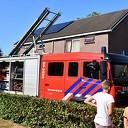 Buren helpen bij brand aan de Kievitsbloem in Dalfsen