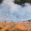 Brand aan het spoor in Beerze