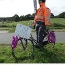 En weer een fietser onderweg naar een Abraham …..
