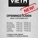 Vieth hairdressers wijzigt openingstijden