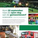 Kom naar de open dag van de vernieuwde gemeentewerf op a.s. zaterdag 22 september
