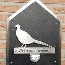 huisnummerbordje in Hessum