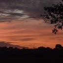 En weer werden we verrast met een prachtige zonsopgang …..