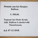 Rode Kruis schenkt € 500 aan Hospice Dalfsen