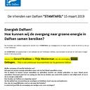 """De Vrienden van Dalfsen """"STAMTAFEL"""" 15 maart 2019"""