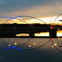 Foto Dalfser brug in avondlicht