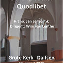 Salland vocaal Quodlibet in de grote kerk.