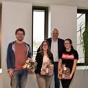 Uitreiking Duurzaam cadeaupakket winnaars prijsvraag Damitobeurs