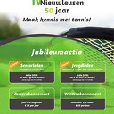 Nog 2 dagen Jubileumacties Tennisvereniging
