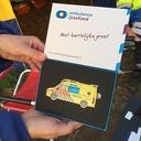 Ambulance IJsseland plaquette voor EHBO-ers tijdens Living Village Festival