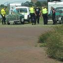 Politieverkeerscontrole camperplaats