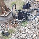 Rolstoeler bijna verongelukt onder de trein