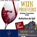Kom met ons wijnen op 5 november