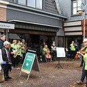 Flashmob Salonorkest Spoom in centrum Dalfsen