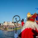 Burgemeeester verwelkomt Sinterklaas en zijn Pieten