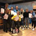 Zes gediplomeerde schaatstrainers erbij