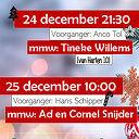 Kerstnachtdienst, m.m.v. Tineke Willems (zang)
