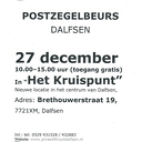 Postzegelbeurs 27 december
