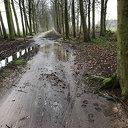Dit is het fietspad van Hoonhorst naar Dalfsen