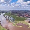 Hoogwater in Dalfsen mooie dronebeelden
