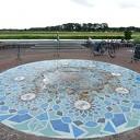 De fontein op het Koninginneplein met zorg gerestaureerd