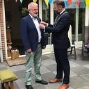 De burgemeester op bezoek bij Flip Jonkman, de muziekman