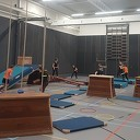 Enthousiaste fanatieke deelnemers tijdens eerste Oldskool Gymles
