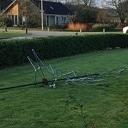Kerstboom vernield