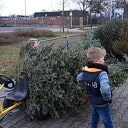 Kerstbomen inzameling Nieuwleusen liep ook lekker