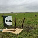Schapen slopen CDA-bord