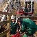 Groot onderhoud houten bruggetje Bellingeweer