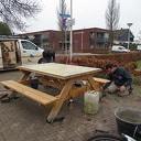 Marketafel geplaatst in Oudleusen
