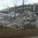 Nog sneeuw bij 18 graden+