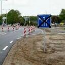 Nieuwe wegmarkeringen kruispunt Koesteeg/Hessenweg