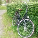 Achtergelaten fiets parkeerplaats Horte